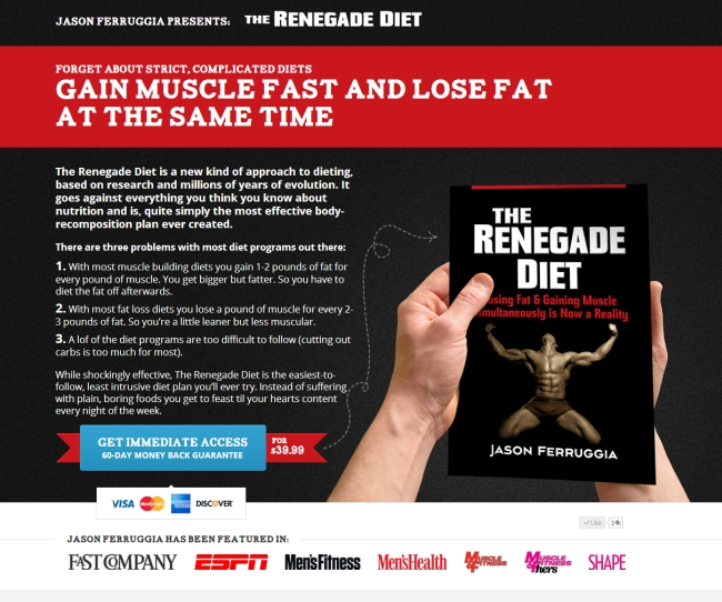 Страница на The Renegade Diet