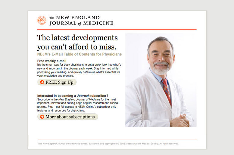 Сайт The New England Journal of Medicine